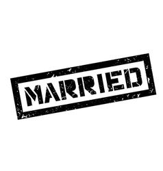 Married rubber stamp vector