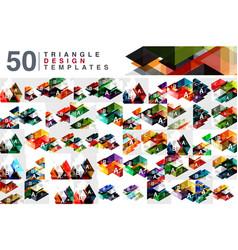 Mega collection 50 color transparent triangle vector
