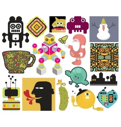 Mix of different images vol65 vector image