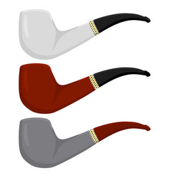 On theme big colored set different types smoke vector