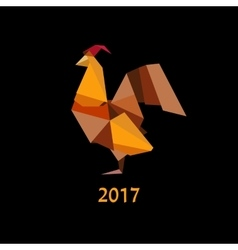 origami silhouette of cock vector image