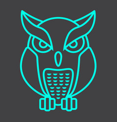 owl line icon halloween and scary animal sign vector image