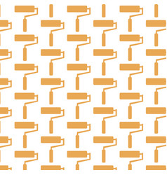 paint roller pattern background vector image
