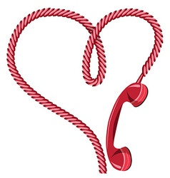 Phone receiver heart vector image