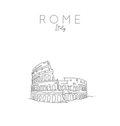 poster rome colosseum vector image