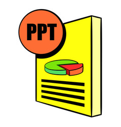 Ppt file icon cartoon vector