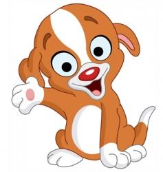 Presenter puppy vector