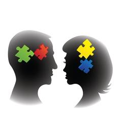 Puzzle mind vector