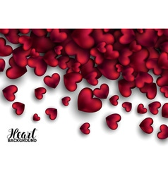 Realistic 3D Colorful Soft and Smooth Valentine vector image