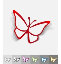 Realistic design element butterfly vector