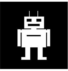 robot icon design vector image