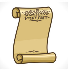 Scroll for pirate party vector