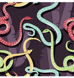 Seamless pattern with colorful intertwined snakes vector