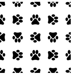 seamless pattern with footprints background vector image