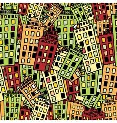 Seamless texture of urban homes Dense buildings vector image