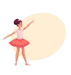 Set of graceful pretty young ballerinas in pink vector