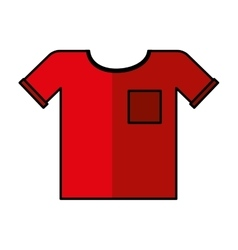 Shirt clothes isolated icon vector