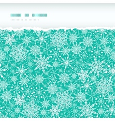 Snowflake Texture Horizontal Torn Seamless Pattern vector image