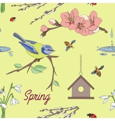 Spring Elements pattern vector image