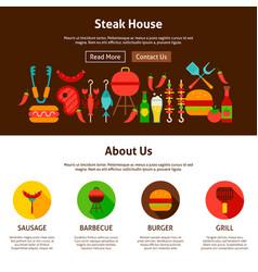 steak house web design vector image