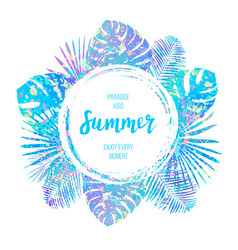 summer tropical design for banner or flyer vector image
