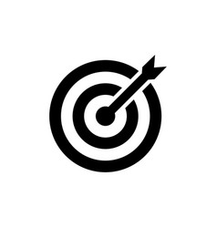 target icon in flat style aim symbol vector image