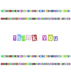 Thank You Color Card vector image