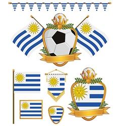 Uruguay flags vector