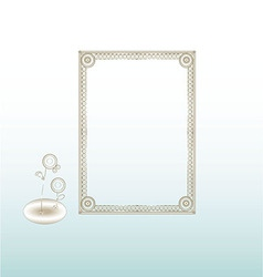 Vintage Frame Silver vector image