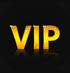 Vip text on the black background vector