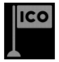 white halftone ico rectangle flag icon vector image