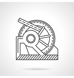 Winch mechanism line icon vector