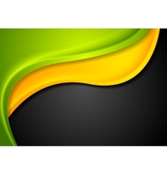 Abstract colorful waves corporate design vector image vector image