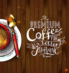 cofee background vector image vector image