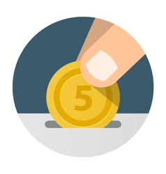 Donation Giving and Receiving Money vector image