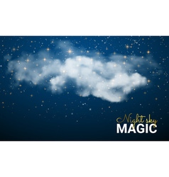 Magic Christmas Cloud Shining Stars Night sky vector image vector image