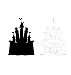 Outlined castle vector image