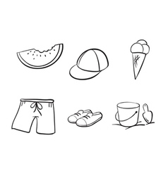 sketches of various objects vector image