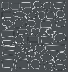 abstract speech bubbles collection vector image vector image