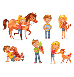 caring for animals vector image vector image