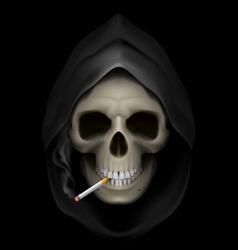 smoking kills Skull death 01 vector image