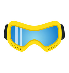 yellow ski glasses in flat style modern trendy vector image vector image