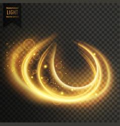 Abstract transparent golden light effect vector