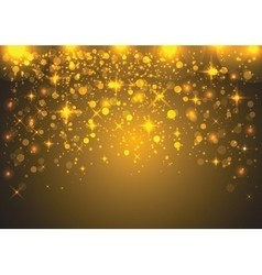 Glitter particles background effect for greeting vector image vector image