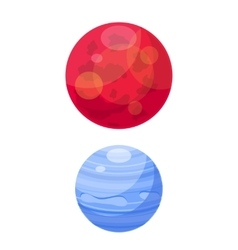 Mars and venera space planets flat vector image vector image