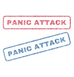 panic attack textile stamps vector image vector image