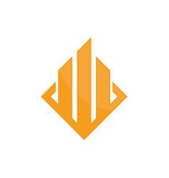 real estate company logo image vector image vector image