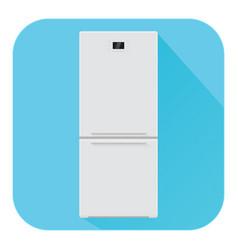 refrigerator flat design blue icon vector image