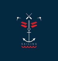 sailing icon color vector image