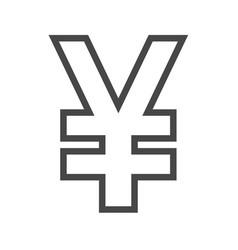 yen thin line icon vector image